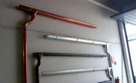 Instalación de canalones